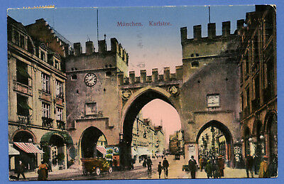 Alte AK Postkarte Deutschland  München Bayern 1916 gelaufen  mit Briefmarke