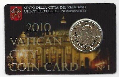Vatikaan 50 cent coincard 2010 NR1