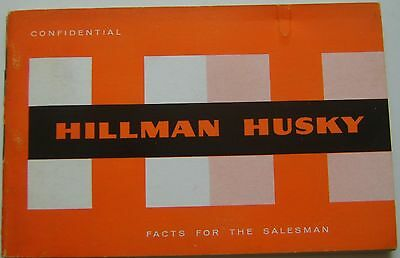 Hillman Husky Original UK confidential Salesmans Book  Pub No. 769/H  c. 1960/61