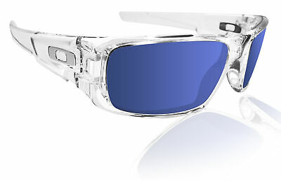 Oakley crankshaft polished clear frame with Ice iridium lens New OO9239-04