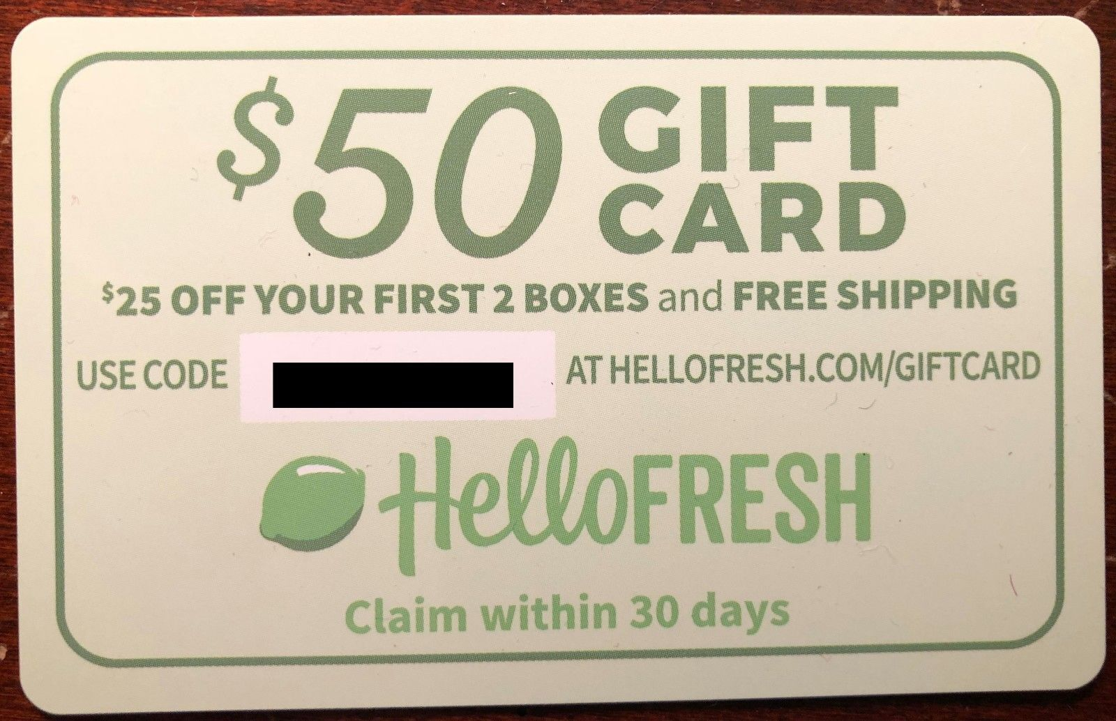 50 Off HELLO FRESH First 2 Boxes HelloFresh.com QUICK DELIVERY exp. 7/31  - $0.99