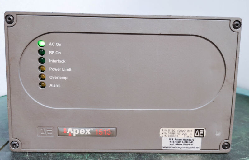 12417 Advanced Energy Apex 1513 Rf Gen,1500w,13.56mhz,0190-19022-001 3156110-005