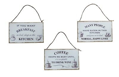 Vintage White Kitchen Quote Plaques Hanging Signs Inspiring Quotes Kitchen