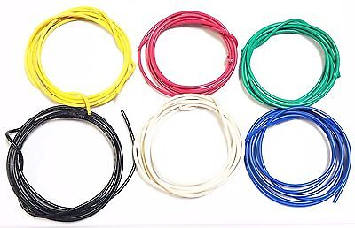 16 Ga Gauge Awg Black Red Yellow White Green Blue Caralarm Primary Wire 12v 30
