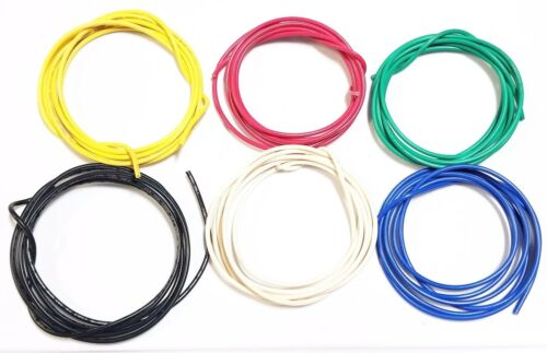 16 ga Gauge AWG Black Red Yellow White Green Blue Car/Alarm Primary Wire 12V 30