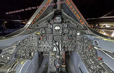 Photograph of a SR-71 Aircraft Cockpit / Flight deck 11x17 (Aircraft Cockpit)