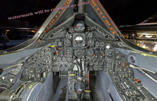 Photograph of a SR-71 Aircraft Cockpit / Flight deck 11x17 inches
