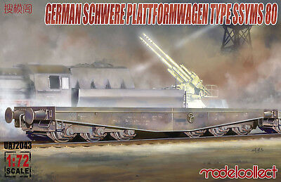 MODELCOLLECT UA72043 German Schwerer Plattformwagen Type SSYMS 80 in 1:72