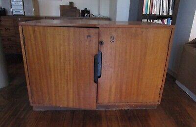 Antique Vintage School Cupboard mid-century 1965 cabinet collect SE23