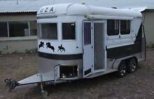 TUZA 2 horse angle load Float - Kitchenette, Lounge & Weekender Mulgoa Penrith Area Preview