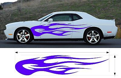 VINYL GRAPHIC FLAMES DECAL CAR TRUCK BOAT KIT CUSTOM SIZE COLOR VARIATION MT-151 Custom Flame Vinyl Graphic