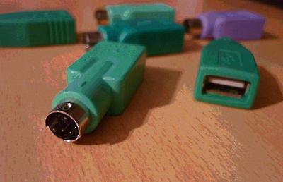 USB naar PS/2 conversiestuk omzetstuk