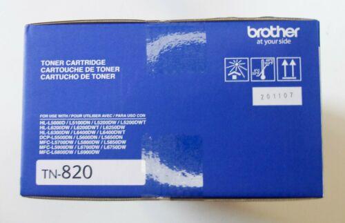 Brother Genuine Toner Cartridge TN820 Black Toner