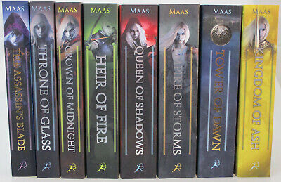 Throne of Glass Novels by Sarah J. Maas (Complete 8-Book Series Set, Paperback)