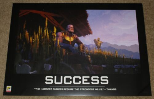 """SDCC 2018 EXCLUSIVE AVENGERS END GAME THANOS SUCCESS POSTER 26"""" x 18.5"""""""