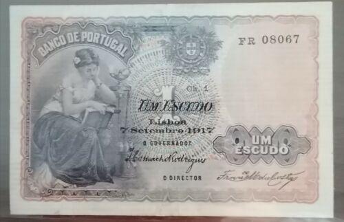 Portugal - banknote / 1 escudo / 1917