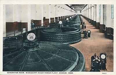 Keokuk Ia   Mississippi River Power Plant Generator Room