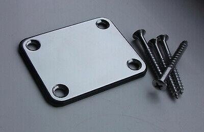 Fender Squier Strat/Tele Chrome Guitar Neck Plate + Screws