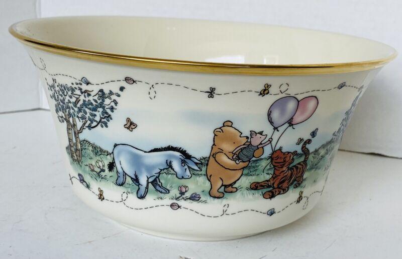 "Lenox Disney Winnie Pooh ""Balloons of Cheer"" BOWL Fine Porcelain China Made USA"