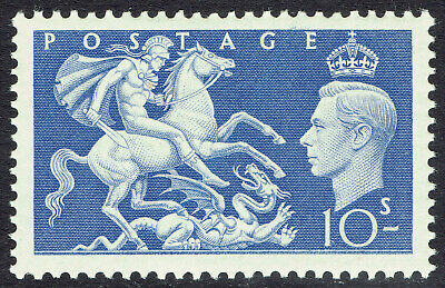 🌟 GB KGVI SG511 - 10s BLUE - 1951 HIGH VALUE - MNH UNMOUNTED MINT - Sc #288