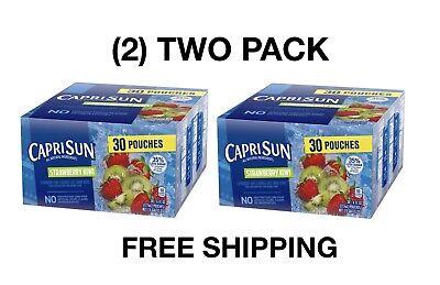 Kiwi Juice - (2)TWO PACK Capri Sun Strawberry Kiwi Flavor Juice Drink Blend 30-6 fl oz Pouch