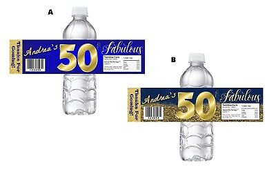 50 AND FABULOUS & FIFTY 50TH BIRTHDAY PARTY FAVORS WATER BOTTLE WRAPPERS LABELS~](Fabulous 50 Birthday)