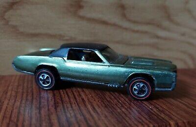 Original 1968 Hot Wheels Redline Custom Eldorado Olive Green Cadillac USA base