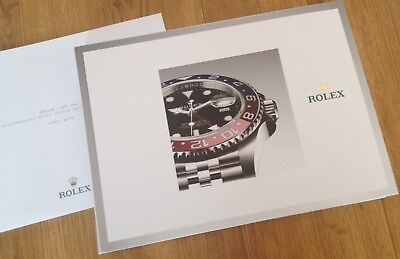 Rolex Oyster Perpetual Watch Catalogue/Brochure 2018-2019 Hard Back & Price List