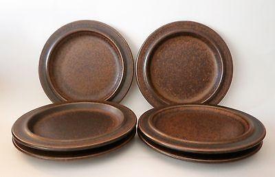 "Vintage Arabia Finland ~ 6 Ruska Ulla Procope 6 1/4"" Bread & Butter Plates"
