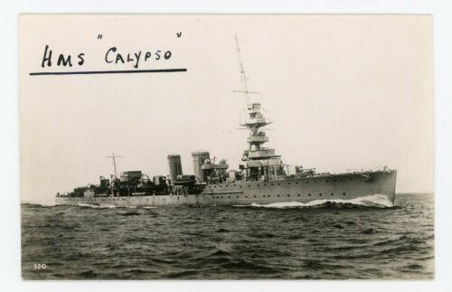 Sunk by Italian Submarine HMS CALYPSO D61 1917-40 Royal Navy Cruiser Photograph