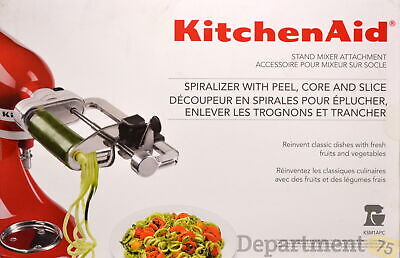 Kitchen Aid Stand Mixer Attachment Spiralizer with Peel, Core, and Slice (KSM1AP
