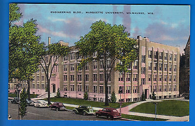 Marquette University Postcard! Milwaukee WI! Engineering Building!