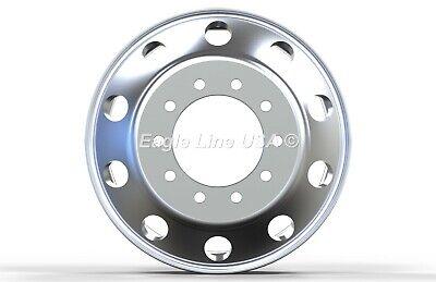 24.5 x 8.25 Aluminum HD Truck Trailer Wheel Rims Hub Alcoa Style Dually 10 Lug