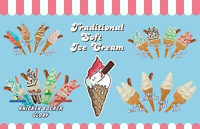 Catering Sign Window Cafe Ice Cream Van Fresh Wraps Sold Here Sticker Green