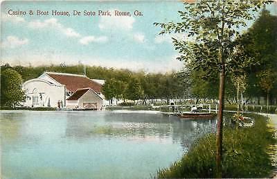 Georgia, GA, Rome, Casino & Boat House, De Soto Park  1910's Postcard