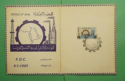 DR WHO 1965 IRAQ FDC FOLDER  g10347