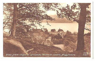 Minard Castle Loch Fyne SCOTTISH SCOTLAND OLD POSTCARD