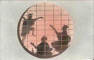 Japan Foto / AK Schattenspiel - 1900er