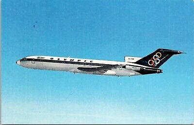 Olympic Airways Boeing 727-200 Jet Airplane Vintage Postcard D35