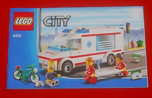 LEGO Bauplan Bauanleitung Instruction Manual City 4431 Ambulance / Krankenwagen