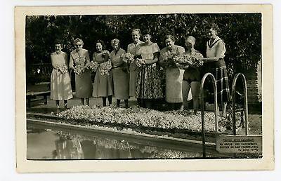 Hotel Ruiz Galindo RPPC Lima PERU Vintage Women Photo ca. 1940s