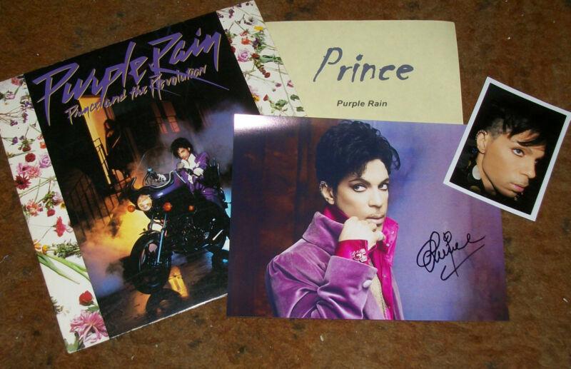 PRINCE Autographed Photo & Album Photos -VERY HOT