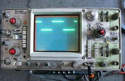 Vintage Tektronix Model 465 Oscilloscope 100 Mhz Work Free Shipping