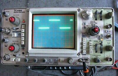 Vintage Tektronix Model 465 Oscilloscope 100 Mhz Work Free Shipping