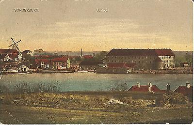Sonderburg, Sønderborg, Dänemark, Schloß, Mühle, Windmühle, alte Ak von 1918