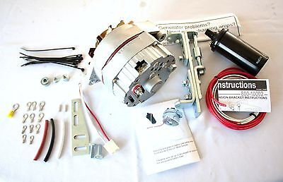 Jeep Willys 6 Volt to 12 Volt Alternator Conversion kit Deluxe 63