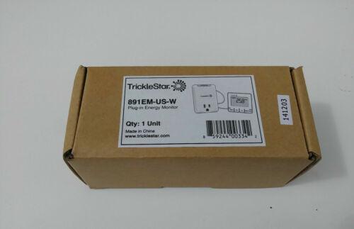 NEW - TrickleStar Plug-In Energy Monitor 891EM-US-W