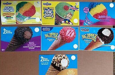 7 Blue Bunny Ice Cream Truck Cones Decals Stickers