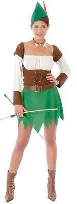 Ladies Medieval Archer Robin Hood Peter Pan Film Book Fancy Dress Costume Outfit](Peter Pan Outfits)