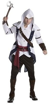 Assassins Creed Connor Costume Mens S L Halloween Costume Cosplay Outfit New](Assassins Creed Halloween Costume)